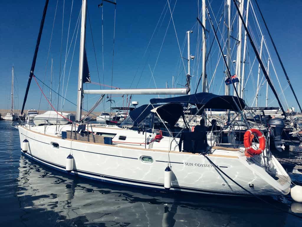Jesper's Boat Mooring in Ancona Italy
